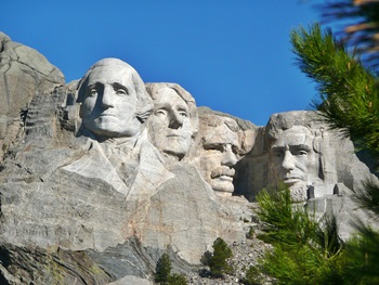 Reisen nach South Dakota - Mount Rushmore